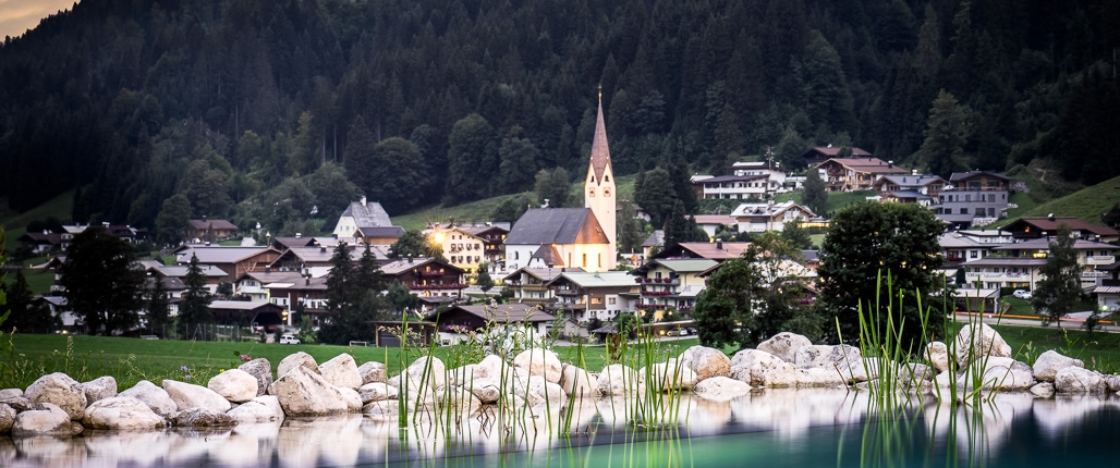 Blick aufs Dorf